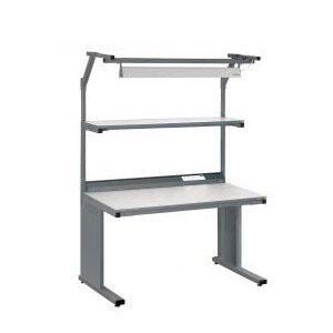 ESD Workbench including uppershelf, powerpanel and lighting